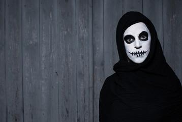 scary halloween skull woman