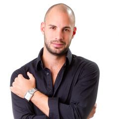 stylish young men wearing black shirt