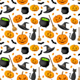 Halloween seamless background. Vector illustration.