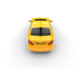 Yellow Car - Top View