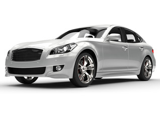 Silver Large Luxury Car
