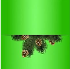 рождественский фон ель