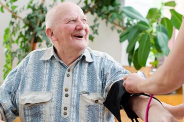 senior man blood pressure