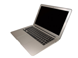Modern Slim Notebook on White Background