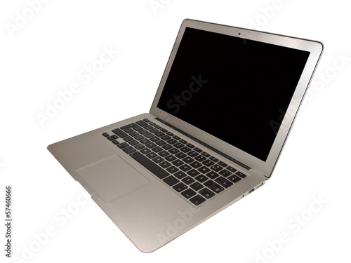 Modern Slim Notebook on White Background