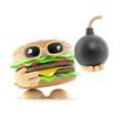 Burger has a bomb