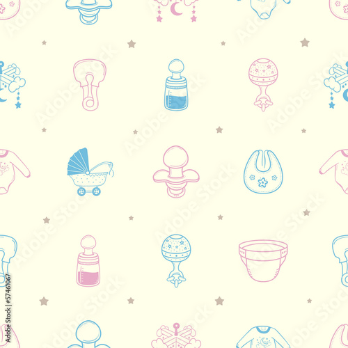 Baby stuff Background Pattern