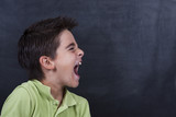 boy screaming on the board
