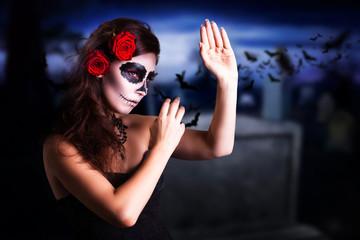 Sugar Skull Make-Up und Halloween