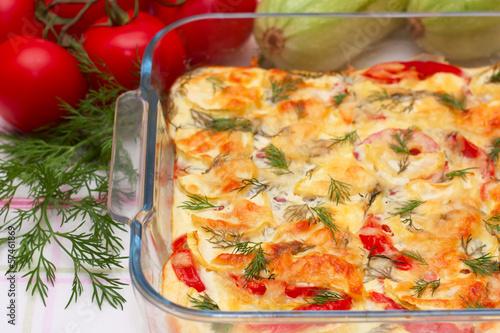 Delicious vegetables gratin