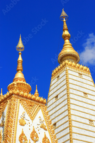 Golden pagoda in Thailand