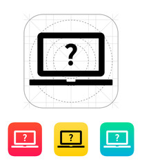 Help and FAQ laptop icon.