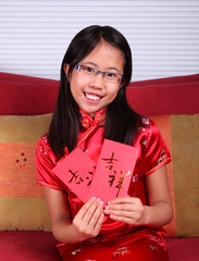Girl Celebrates Chinese New Year