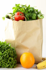 set of different convenience food (vegetables fruit)