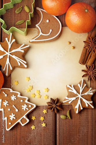Blank note for recipes of christmas cookies