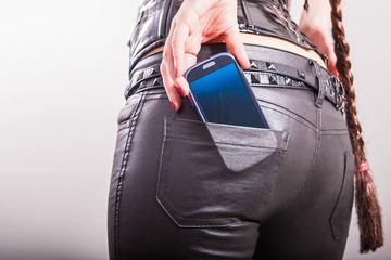 cell phone in back pocket