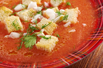 delicious cold Gazpacho soup
