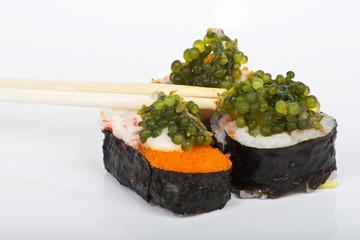 grapes seaweed shushi