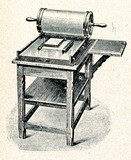 Press for making proof sheet of typeset