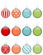 12 Christmas Balls Colors