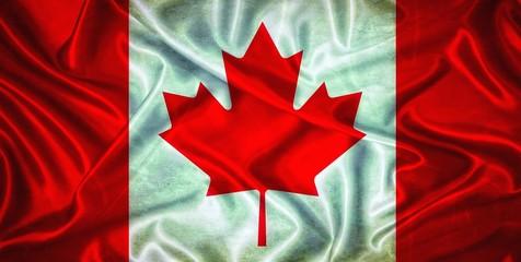 Vintage Canada flag.
