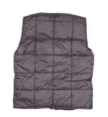 Gray working winter vest. Back view