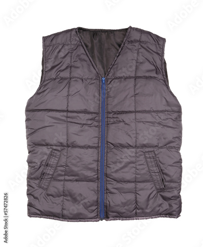 Gray working winter vest