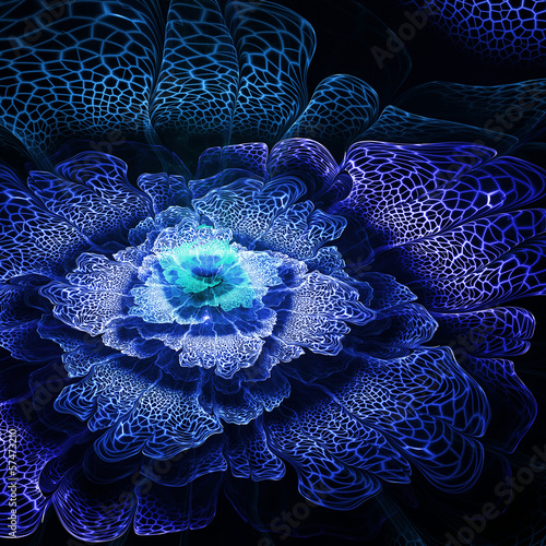 Abstract futuristic fractal flower