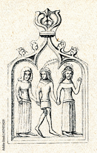 Tile for making stove (14. century)