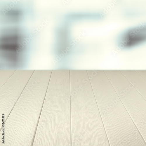 Empty wooden counter background