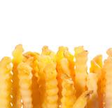 Crinkle cut golden potato chips poster