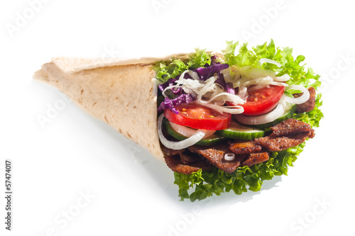 Fresh salad kebab