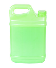 Green plastic canister