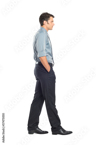 Young Businessman Walking