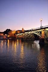 Noche de Sevilla, Puente de Triana, España