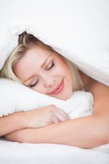 Blonde sleeping peacefully