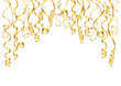Party Background Golden Streamers A4