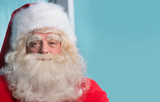 Closeup portrait of Santa Claus