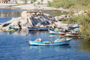 Vissersbootje in het Bafa meer