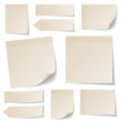 Collection Beige Stick Notes