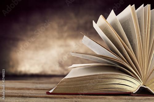 Leinwanddruck Bild book