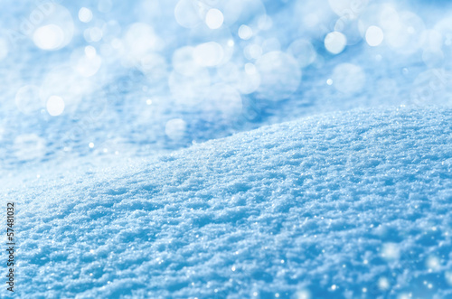 Abstract background of shiny snow