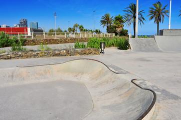 urban skatepark in Barcelona, Spain