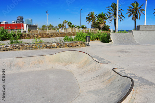 urban skatepark in Barcelona, Spain