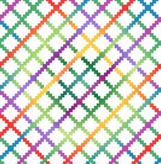 Decorative checkered multicolor pattern