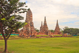 Buddhist wat chaiwatthanram and Ayutthaya