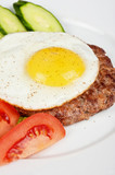 steak beef meat with fried egg