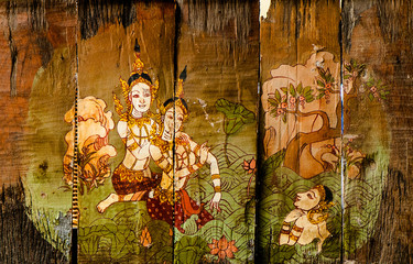 Traditional Thai style art stories