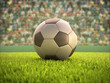 Soccer Ball Stadium. Clipping path on the ball.