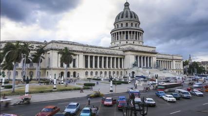 Cuba Havana time lapse El Capitolio building